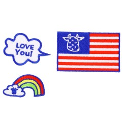 flaga tęcza chmurka