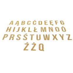 glitter gold folia alfabet literka