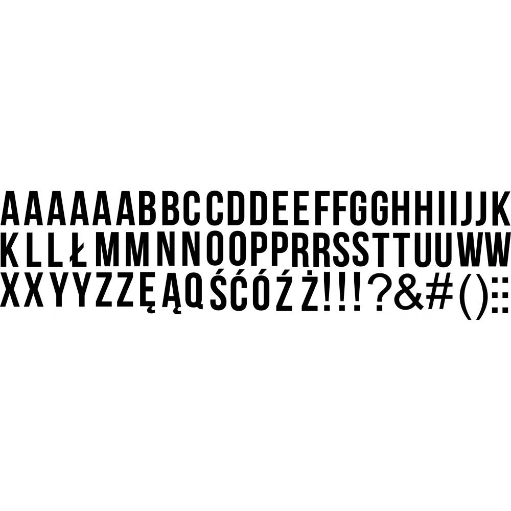 folia alfabet zestaw