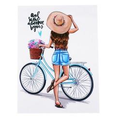 mały ekran dziewczyna z rowerem